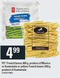 PC French Beans 400 g - Product Of Mexico Or Guatemala Or Yellow French Beans 350 g