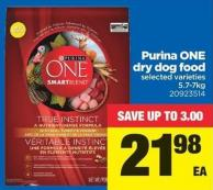 Purina One Dry Dog Food - 5.7-7kg