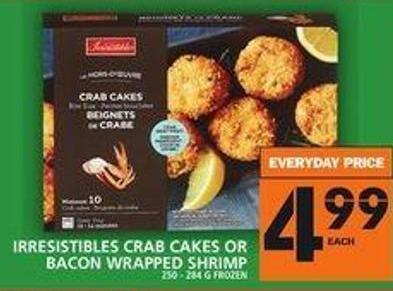 Irresistibles Crab Cakes Or Bacon Wrapped Shrimp
