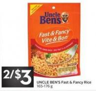 Uncle Ben's Fast & Fancy Rice 165-176 g