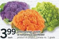 Green - Orange - Purple Or Romanesco Cauliflower