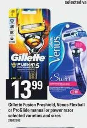 Gillette Fusion Proshield - Venus Flexball Or Proglide Manual Or Power Razor
