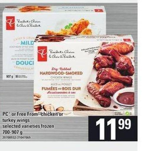 PC Or Free From Chicken Or Turkey Wings - 700-907 g
