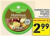 Summer Fresh Dips And Hummus