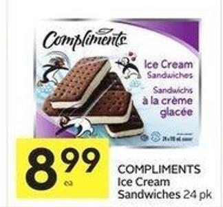 Compliments Ice Cream Sandwiches