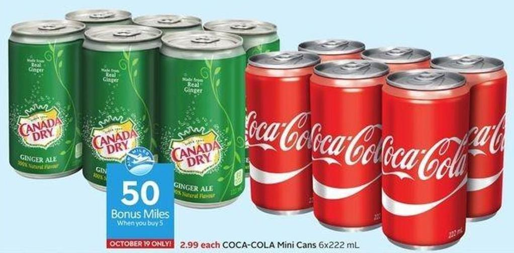 Coca-cola Mini Cans 6x222 mL - 50 Air Miles Bonus Miles