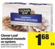Clover Leaf Smoked Mussels Or Oysters - 85 g