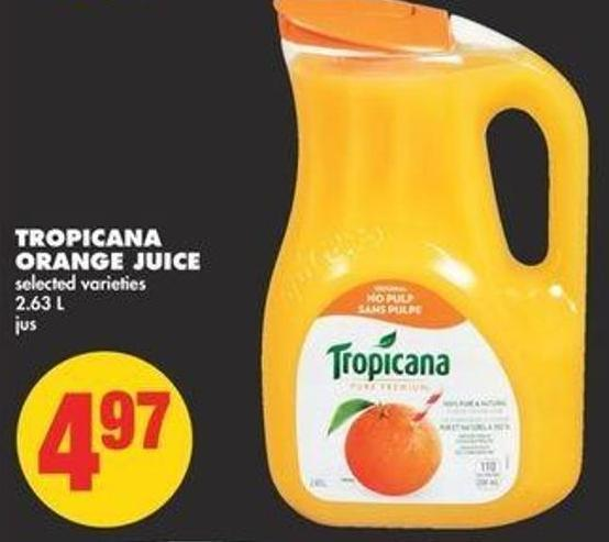 Tropicana Orange Juice - 2.63 L