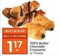 100% Butter Chocolate Croissants or Twists