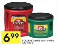 Folgers Classic Roast Coffee 642-920 g