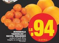 Minneola Tangelos or Navel Oranges