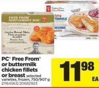 PC Free From Or Buttermilk Chicken Fillets Or Breast - 750/907 g