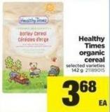Healthy Times Organic Cereal - 142 g