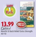 Option+   Muscle & Back Relief Extra Strength   40+10