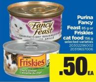 Purina Fancy Feast - 85 g Or Friskies Cat Food - 156 g
