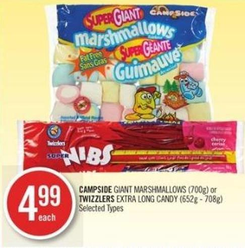 Campside Giant Marshmallows (700g) or Twizzlers Extra Long Candy (652g - 708g)