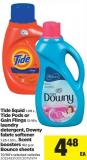 Tide Liquid - 1.09 L - Tide PODS Or Gain Flings - 12-16's Laundry Detergent - Downy Fabric Softener - 1.23-1.53 L - Scent Boosters - 162 g Or Bounce Sheets - 70/80's