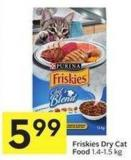 Purina Friskies Dry Cat Food 1.4-1.5 Kg