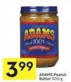 Adams Peanut Butter 500 g