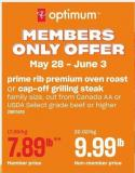Prime Rib Premium Oven Roast or Cap- Off Grilling Steak