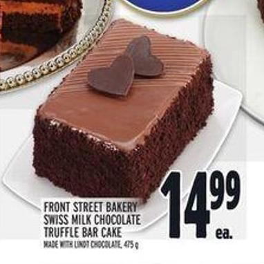 Front Street Bakery Swiss Milk Chocolate Truffle Bar Cake