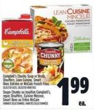 Campbell's Chunky Soup Or Broth - Stouffers - Lean Cuisine - Smart Ones Entrées Or Mccain French Fries