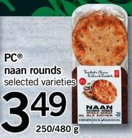 PC Naan Rounds - 250/480 G