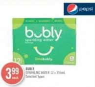 Bubly Sparkling Water 12 X 355ml