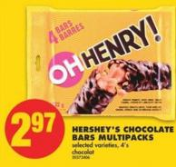 Hershey's Chocolate Bars Multipacks - 4's