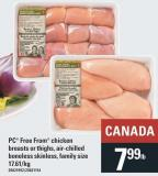 PC Free From Chicken Breasts Or Thighs