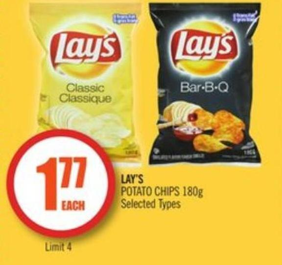 lays potato chips lay s potato chips 180g on salewhale ca 28794