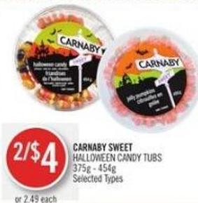 Carnaby Sweet Halloween Candy Tubs