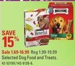 Selected Dog Food and Treats