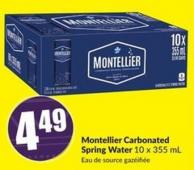 Montellier Carbonated Spring Water 10 X 355 mL