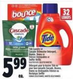 Tide Laundry Or Cascade Dishwasher Detergent - Bounce - Downy Or Febreze Unstopables Or Swiffer Refills