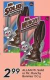 Allan Mr. Solid or Mr. Munchy Bunnies