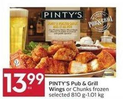 Pinty's Pub & Grill Wings or Chunks Frozen Selected 810 G-1.01 Kg