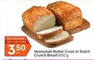 Homestyle Butter Crust or Dutch Crunch Bread
