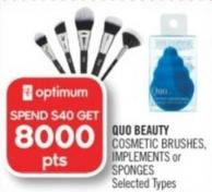 Quo Beauty Cosmetic Brushes - Implements or Sponges