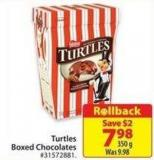 Turtles Boxed Chocolates 350 g
