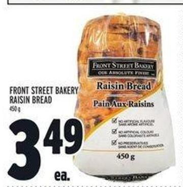 Front Street Bakery Raisin Bread