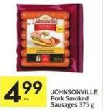 Johnsonville Pork Smoked Sausages 375 g