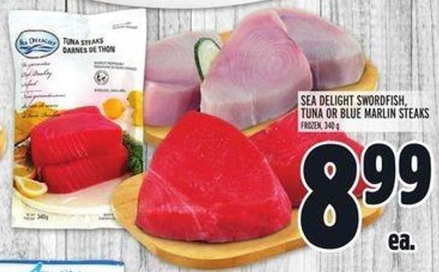 Sea Delight Swordfish - Tuna Or Blue Marlin Steaks