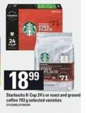 Starbucks K-cup - 24's Or Roast And Ground Coffee - 793 g