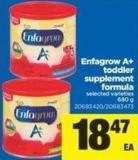 Enfagrow A+ Toddler Supplement Formula - 680 g