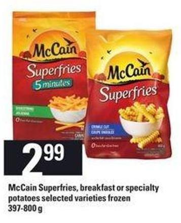 Mccain Superfries - Breakfast Or Specialty Potatoes - 397-800 g