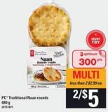 PC Traditional Naan Rounds - 480 G