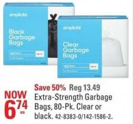 Extra-strength Garbage Bags - 80-pk