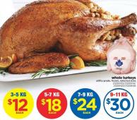 Whole Turkeys - 5-7 Kg