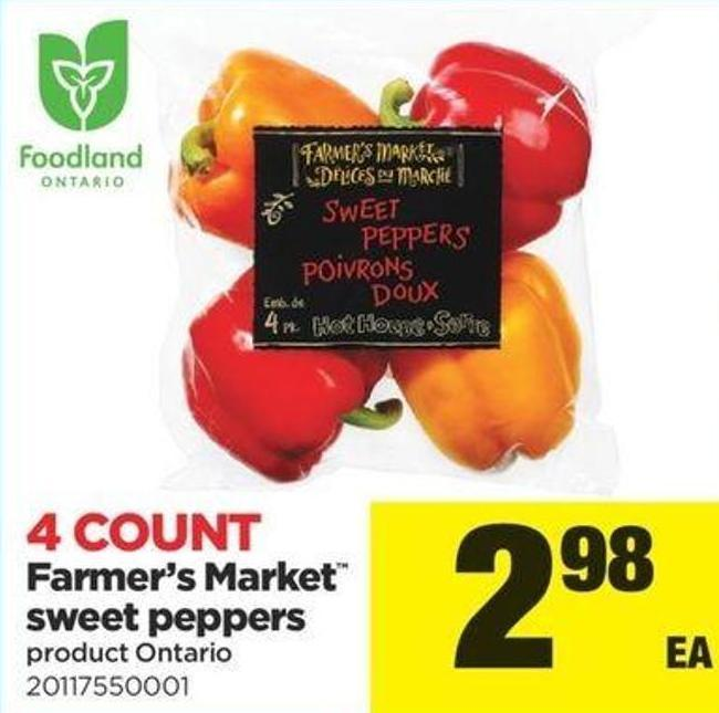 Farmer's Market Sweet Peppers - 4 Count